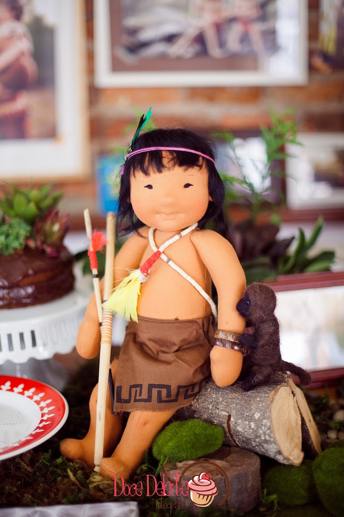 Tainá doll from a Taina Inspired Little Indian Birthday Party on Kara's Party Ideas | KarasPartyIdeas.com (25)