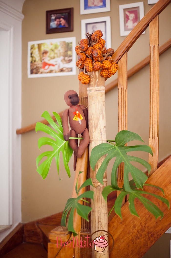 Jungle decor from a Taina Inspired Little Indian Birthday Party on Kara's Party Ideas | KarasPartyIdeas.com (21)