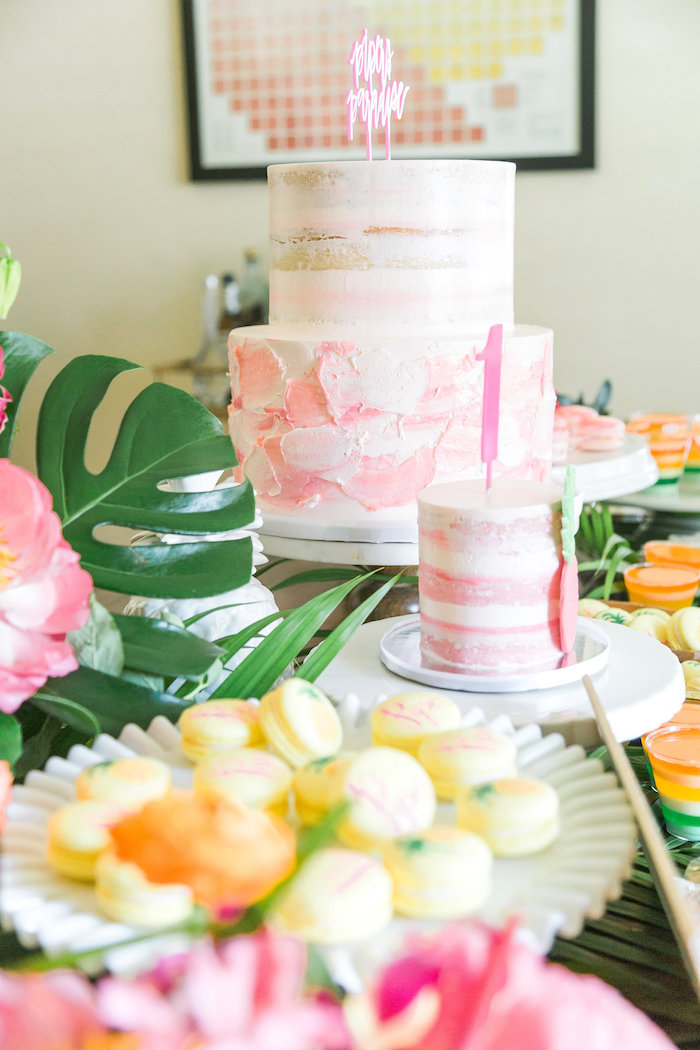 Cakes from a Tropical Birthday Party on Kara's Party Ideas | KarasPartyIdeas.com (44)