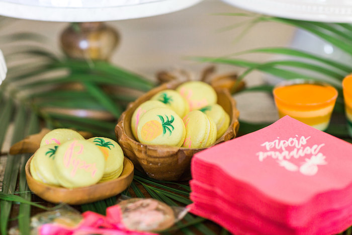 Tropical macarons from a Tropical Birthday Party on Kara's Party Ideas | KarasPartyIdeas.com (53)