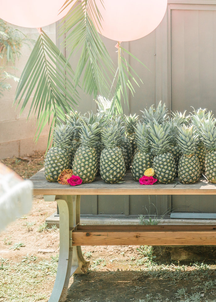 Pineapple from a Tropical Birthday Party on Kara's Party Ideas | KarasPartyIdeas.com (7)