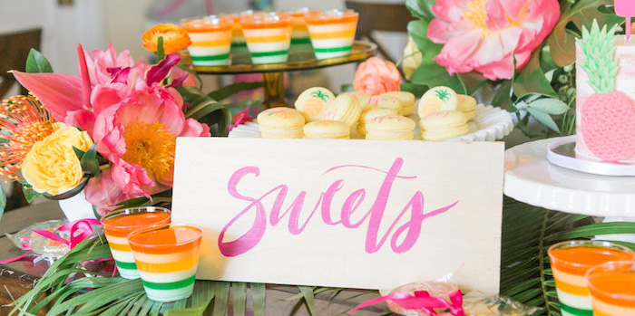 Tropical Birthday Party on Kara's Party Ideas | KarasPartyIdeas.com (1)