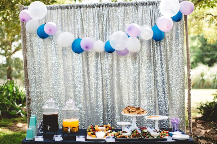 """Food table from a """"Two the Moon"""" 2nd Birthday Party on Kara's Party Ideas 