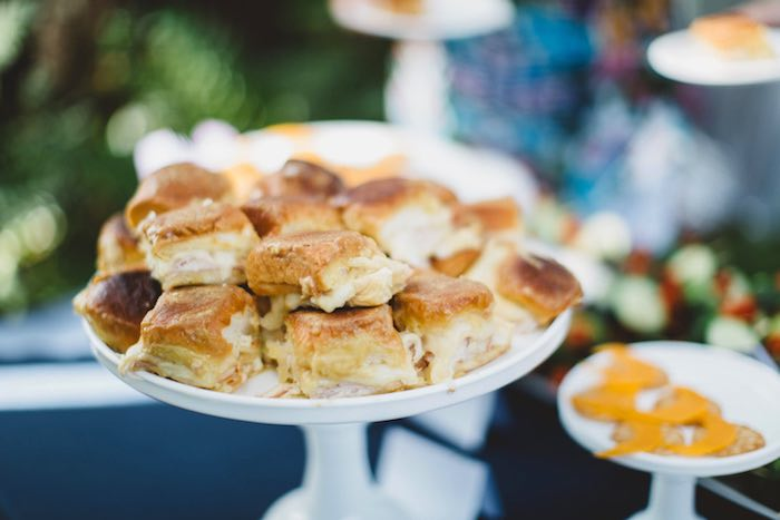 """Sandwiches from a """"Two the Moon"""" 2nd Birthday Party on Kara's Party Ideas 