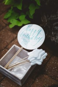 "Photo booth props from a ""Two the Moon"" 2nd Birthday Party on Kara's Party Ideas 