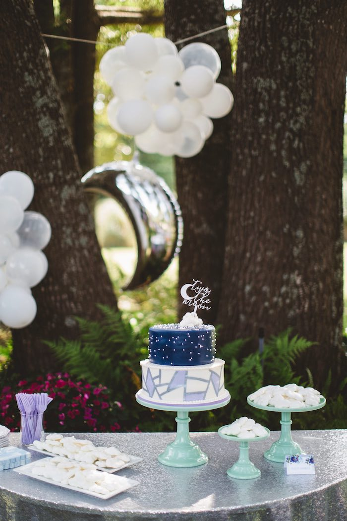 """Two the Moon"" 2nd Birthday Party on Kara's Party Ideas 