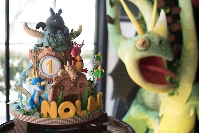 Dragon cake from a Viking & Dragons Birthday Party on Kara's Party Ideas | KarasPartyIdeas.com (15)