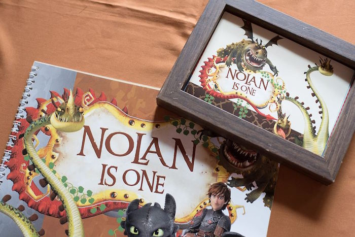 How to Train Your Dragon Party Signage from a Viking & Dragons Birthday Party on Kara's Party Ideas | KarasPartyIdeas.com (5)
