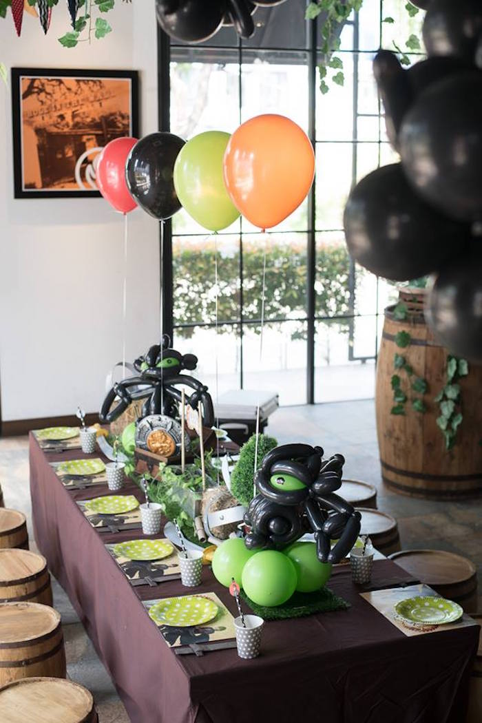 How to Train Your Dragon guest table from a Viking & Dragons Birthday Party on Kara's Party Ideas | KarasPartyIdeas.com (23)