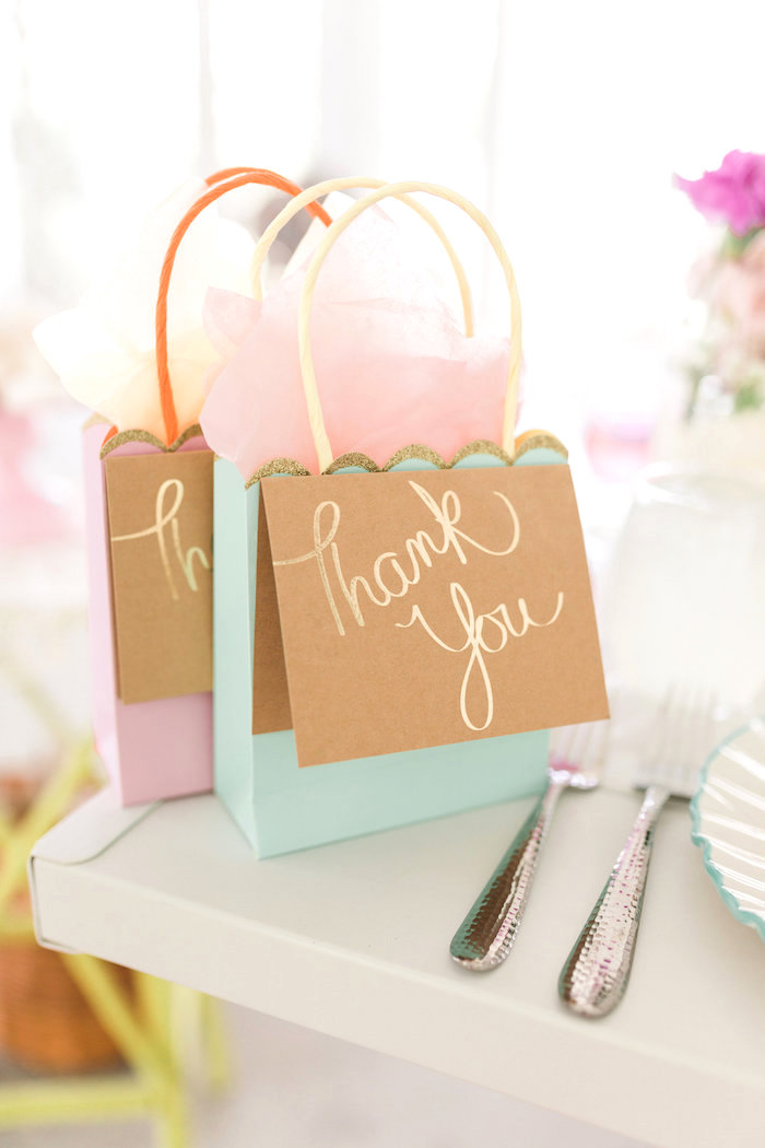 Gift bags from a Vintage Shabby Chic Ladies Luncheon on Kara's Party Ideas | KarasPartyIdeas.com (23)