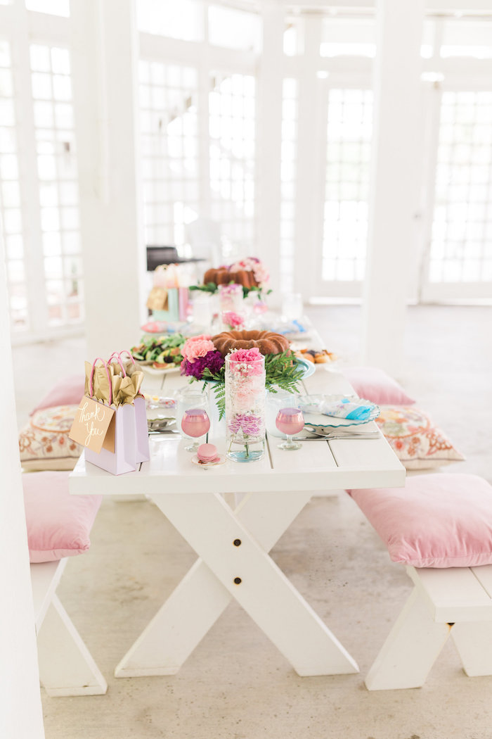 Dining tablescape from a Vintage Shabby Chic Ladies Luncheon on Kara's Party Ideas | KarasPartyIdeas.com (7)
