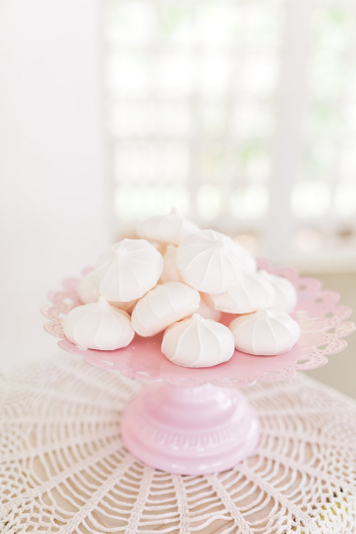 White meringues from a Vintage Shabby Chic Ladies Luncheon on Kara's Party Ideas | KarasPartyIdeas.com (29)