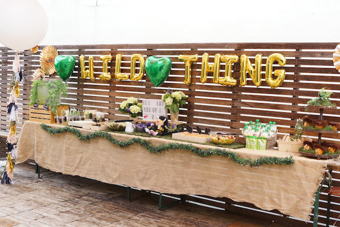 Wild Thing food table from a Where the Wild Things Are 1st Birthday Party on Kara's Party Ideas | KarasPartyIdeas.com (14)
