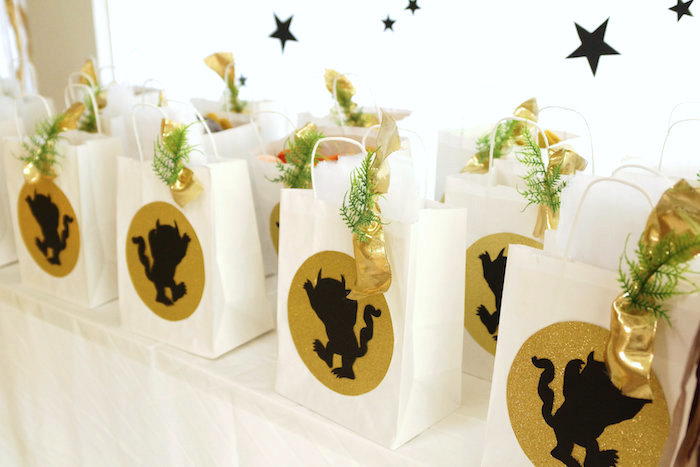 """""""Wild Thing"""" gift bags from a Where the Wild Things Are 1st Birthday Party on Kara's Party Ideas 