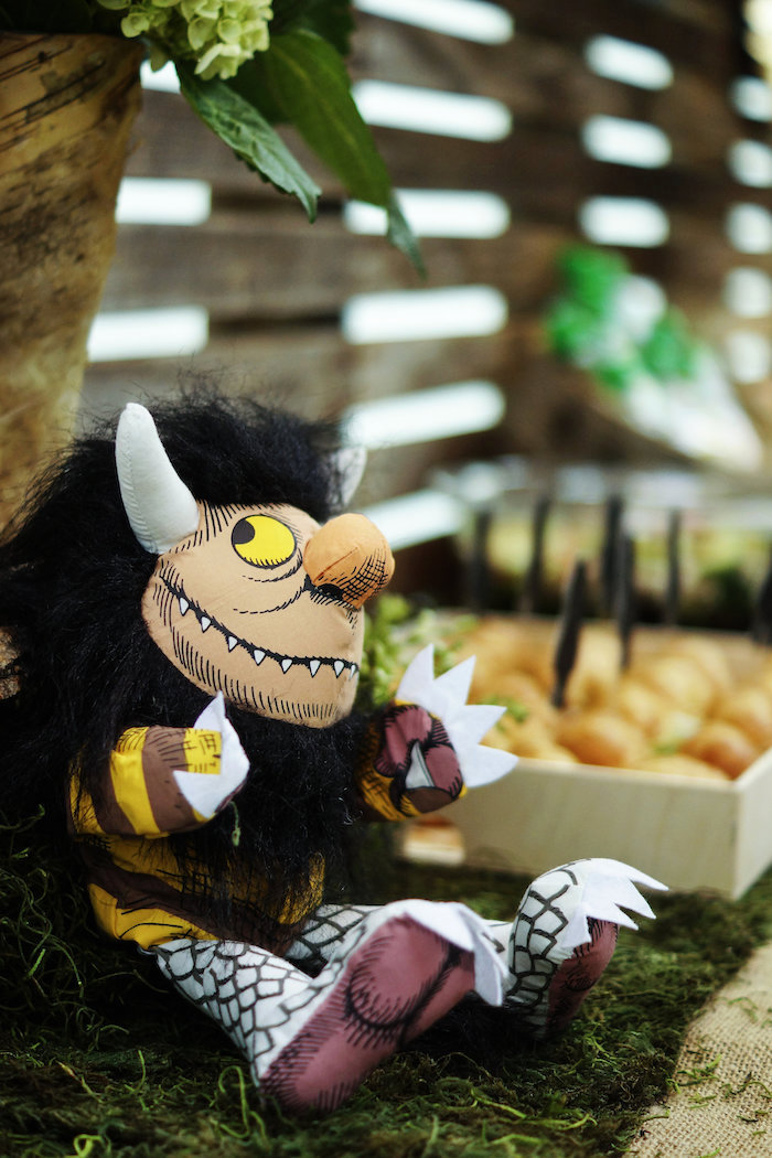 Wild Thing plush from a Where the Wild Things Are 1st Birthday Party on Kara's Party Ideas | KarasPartyIdeas.com (34)