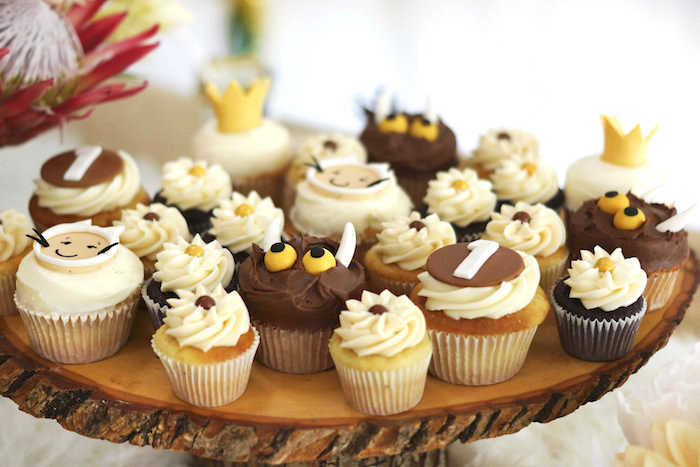 Wild Thing cupcakes from a Where the Wild Things Are 1st Birthday Party on Kara's Party Ideas | KarasPartyIdeas.com (31)