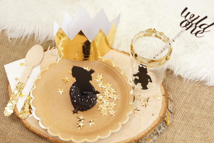"""""""Wild Thing"""" place setting from a Where the Wild Things Are 1st Birthday Party on Kara's Party Ideas 
