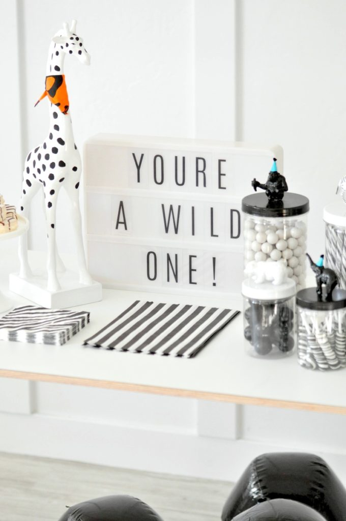 Kara S Party Ideas Wild One Monochromatic Jungle 1st