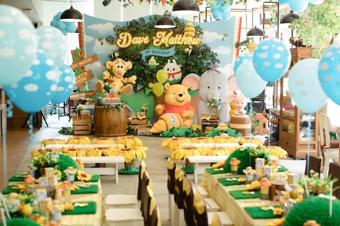 Winnie the Pooh 1st Birthday Party on Kara's Party Ideas | KarasPartyIdeas.com (8)