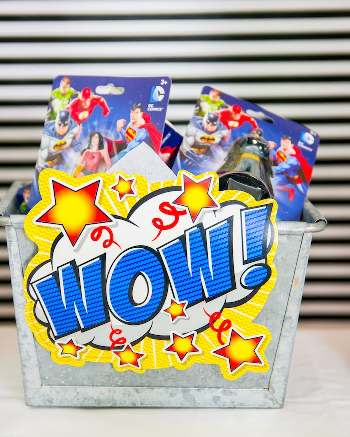 Favors from a Wonder Woman Superhero Birthday Party on Kara's Party Ideas | KarasPartyIdeas.com (19)