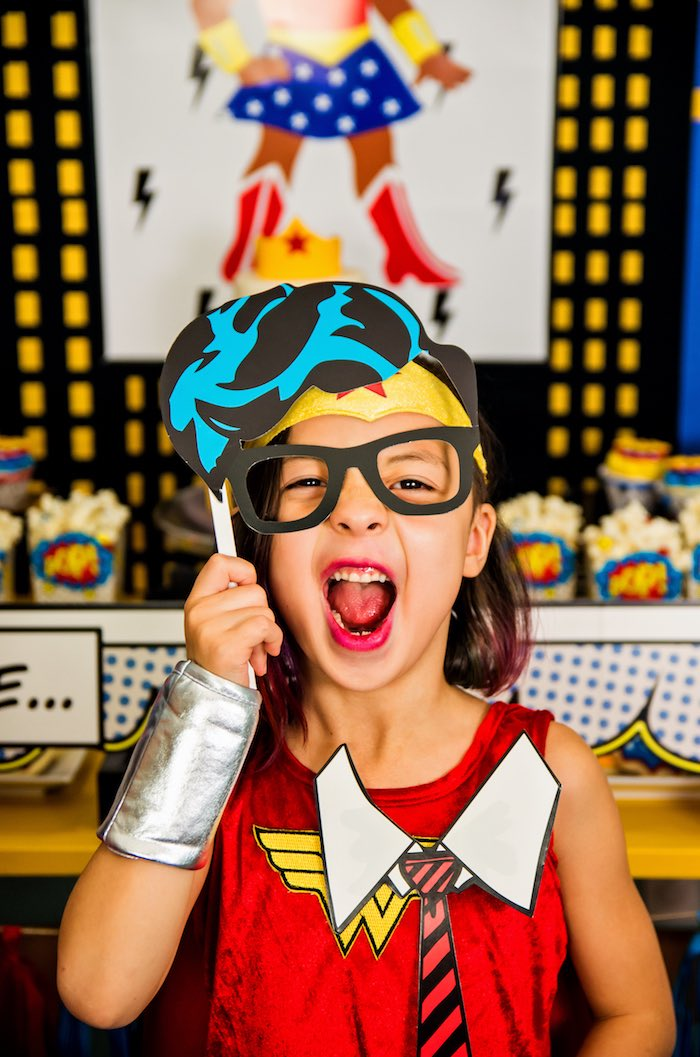 Wonder Woman Superhero Birthday Party on Kara's Party Ideas | KarasPartyIdeas.com (13)