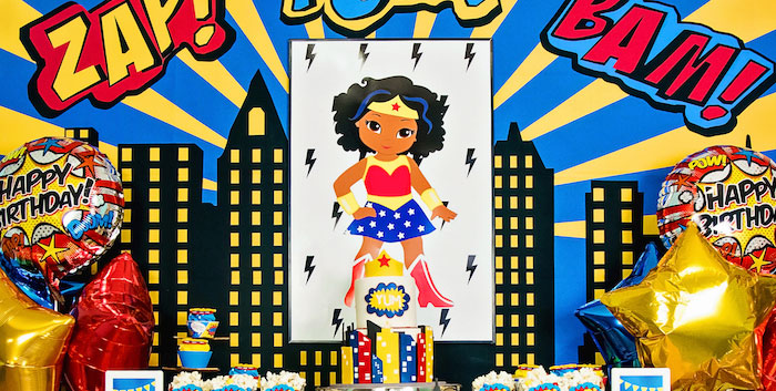 Wonder Woman Superhero Birthday Party on Kara's Party Ideas | KarasPartyIdeas.com (1)