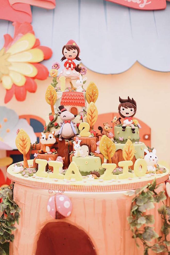 Little Red Riding Hood Cake from a Woodland Little Red Riding Hood Party on Kara's Party Ideas   KarasPartyIdeas.com (6)