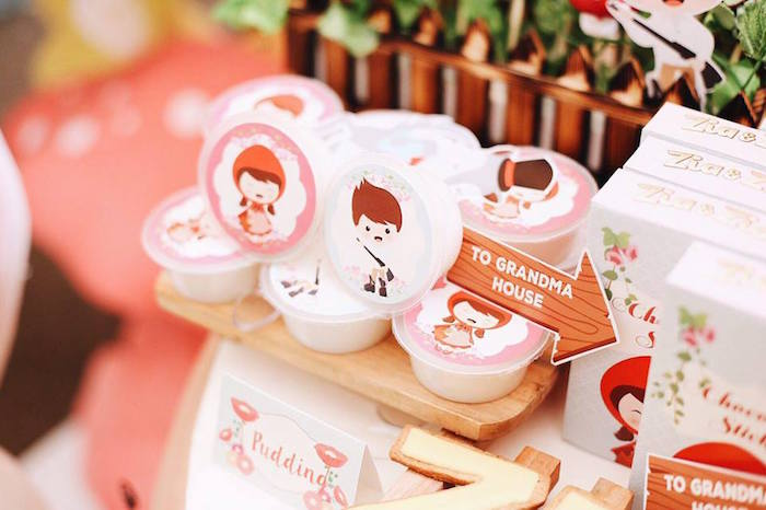 Favor cups from a Woodland Little Red Riding Hood Party on Kara's Party Ideas | KarasPartyIdeas.com (20)