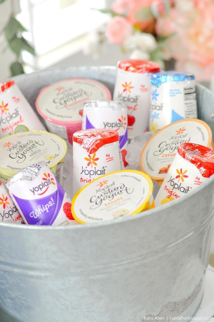diy lovely yoplait yogurt bar styled by karas party ideas