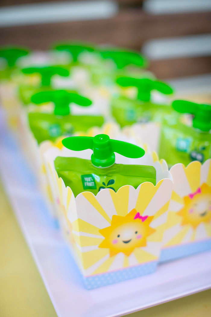 Sunshine favor boxes from a You Are My Sunshine Birthday Party on Kara's Party Ideas | KarasPartyIdeas.com (11)
