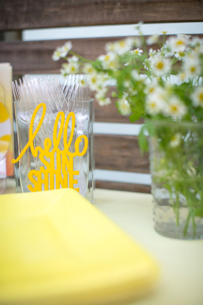 Partyware from a You Are My Sunshine Birthday Party on Kara's Party Ideas | KarasPartyIdeas.com (10)