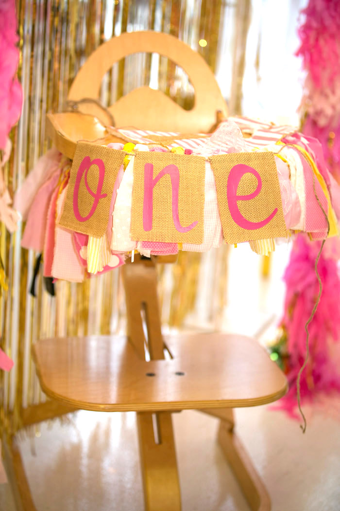 Highchair banner from a You Are My Sunshine Birthday Party on Kara's Party Ideas | KarasPartyIdeas.com (5)