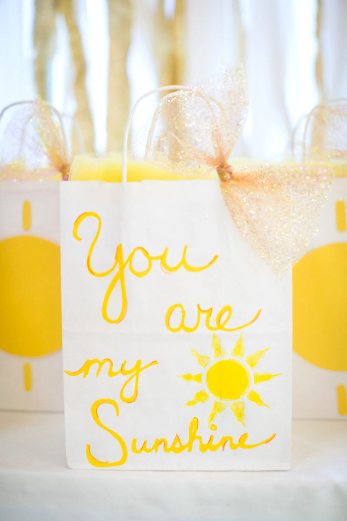 Gift bag from a You Are My Sunshine Birthday Party on Kara's Party Ideas | KarasPartyIdeas.com (19)