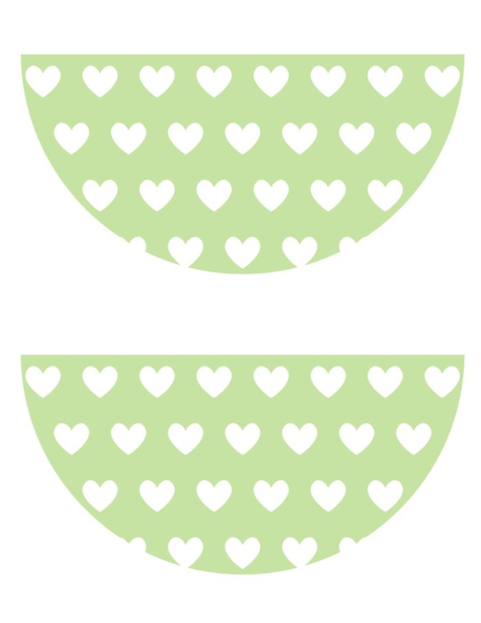 FREE heart pennant banner. Berry Sweet Strawberry Valentine's Day Party with FREE printables! By Kara's Party Ideas for Canon.