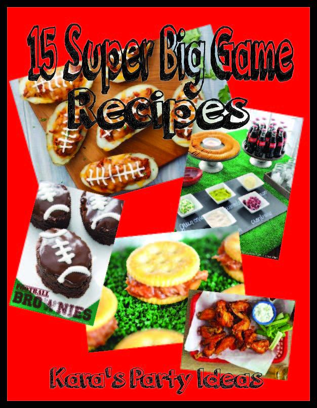 15 Big Game Recipes via Kara's Party Ideas