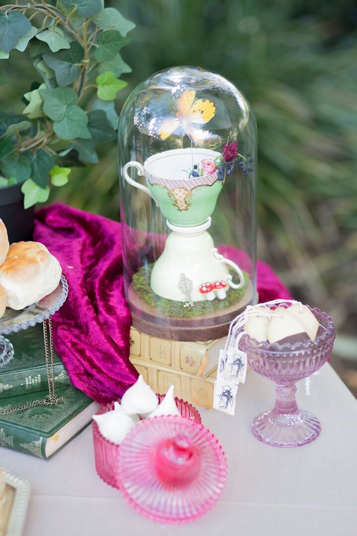 Tea cups from an Alice in Wonderland Birthday Tea Party on Kara's Party Ideas | KarasPartyIdeas.com (22)