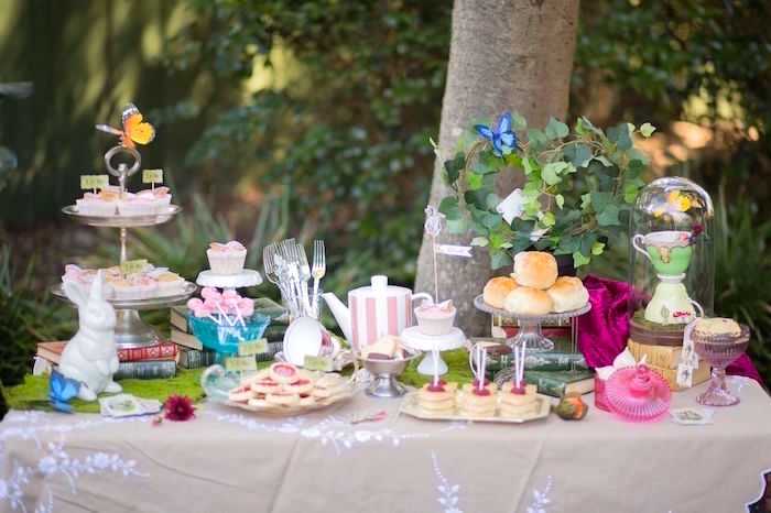Kara 39 s party ideas alice in wonderland birthday tea party - Alice in wonderland tea party decorations ...