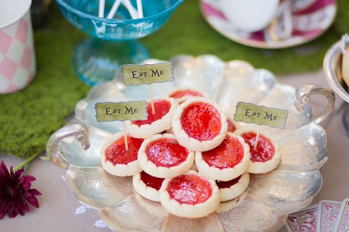 Tarts from an Alice in Wonderland Birthday Tea Party on Kara's Party Ideas | KarasPartyIdeas.com (16)