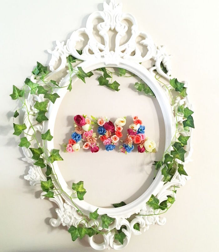 Floral and ivy wall decoration from an Alice in Wonderland Birthday Tea Party on Kara's Party Ideas | KarasPartyIdeas.com (31)