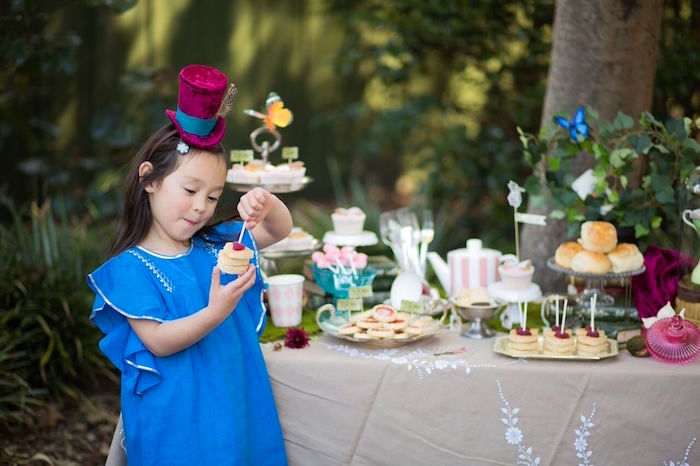 Sweet table from an Alice in Wonderland Birthday Tea Party on Kara's Party Ideas | KarasPartyIdeas.com (8)