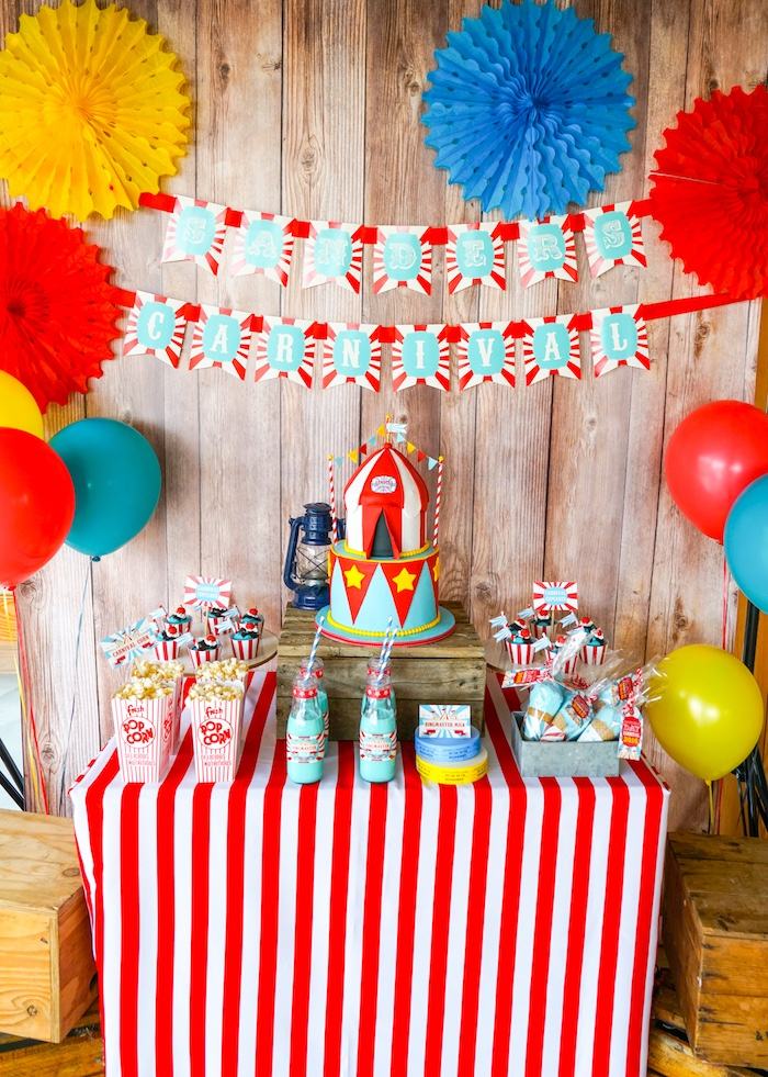 Carnival Theme Decoration Ideas Part - 25: Backyard Carnival Party On Karau0027s Party Ideas | KarasPartyIdeas.com (37)