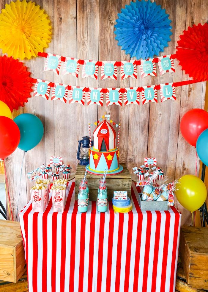 Kara 39 s party ideas backyard carnival party kara 39 s party ideas - Carnival theme party supplies ...