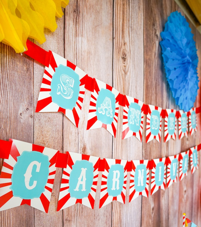 Carnival banner from a Backyard Carnival Party on Kara's Party Ideas | KarasPartyIdeas.com (35)