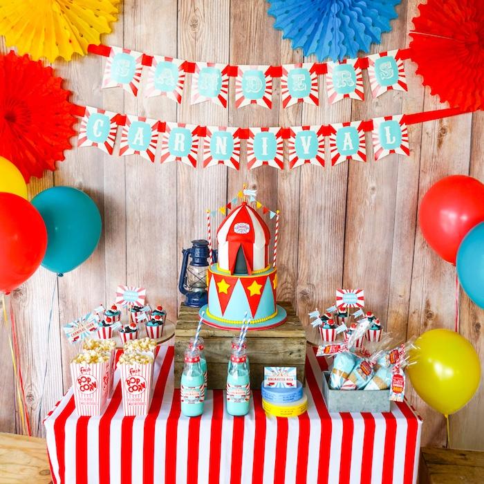 Kara's Party Ideas Backyard Carnival Party