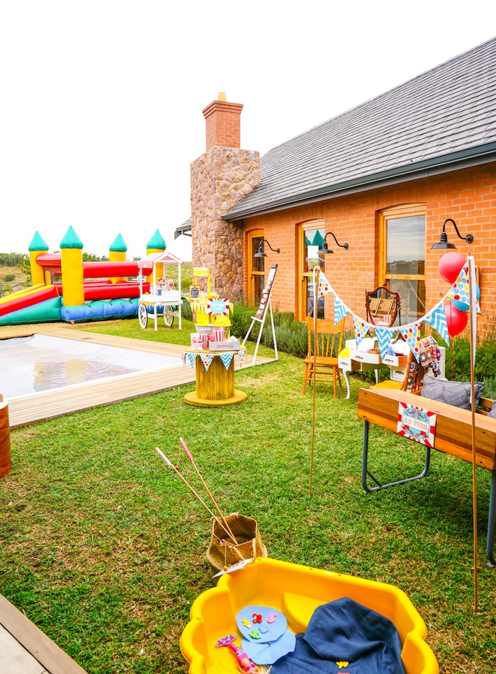 Partyscape from a Backyard Carnival Party on Kara's Party Ideas | KarasPartyIdeas.com (27)