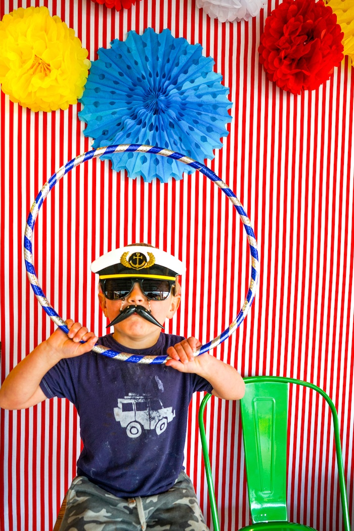 Photo booth from a Backyard Carnival Party on Kara's Party Ideas | KarasPartyIdeas.com (22)