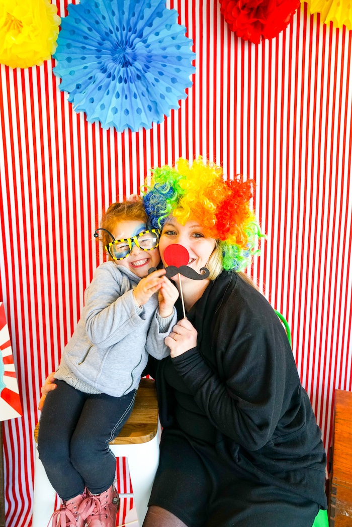 Photo booth from a Backyard Carnival Party on Kara's Party Ideas | KarasPartyIdeas.com (21)