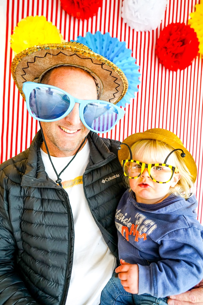 Photo booth from a Backyard Carnival Party on Kara's Party Ideas | KarasPartyIdeas.com (20)