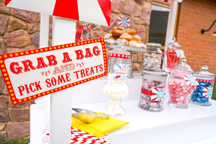 Candy cart from a Backyard Carnival Party on Kara's Party Ideas | KarasPartyIdeas.com (47)