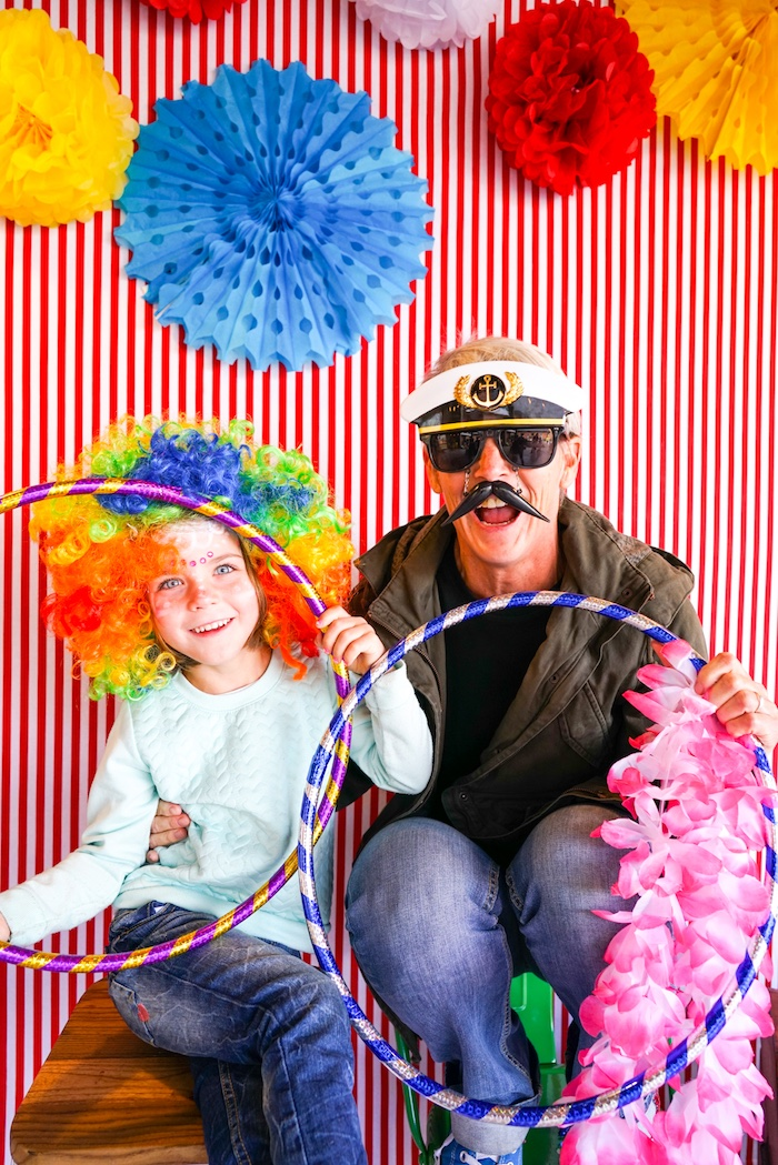Photo booth from a Backyard Carnival Party on Kara's Party Ideas | KarasPartyIdeas.com (18)